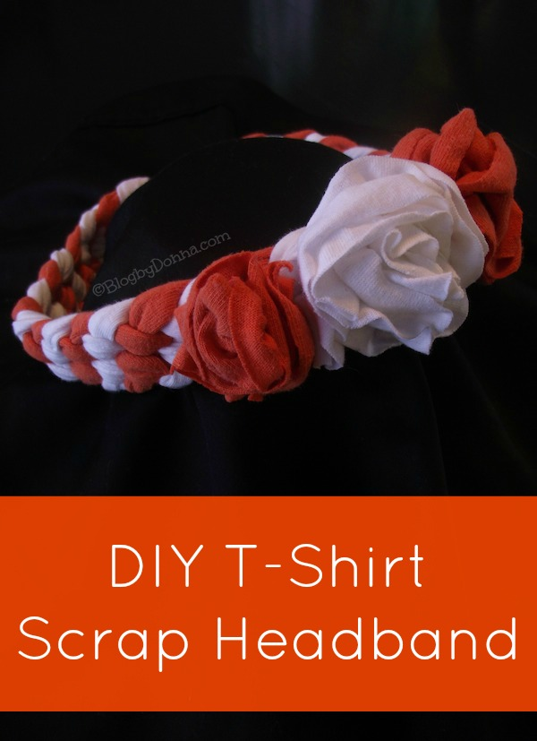 orange and white finished headband