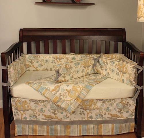 Custom crib bedding