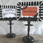 diy Halloween frames - easy Halloween craft ideas