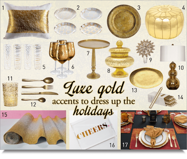 Dress up your home with gold