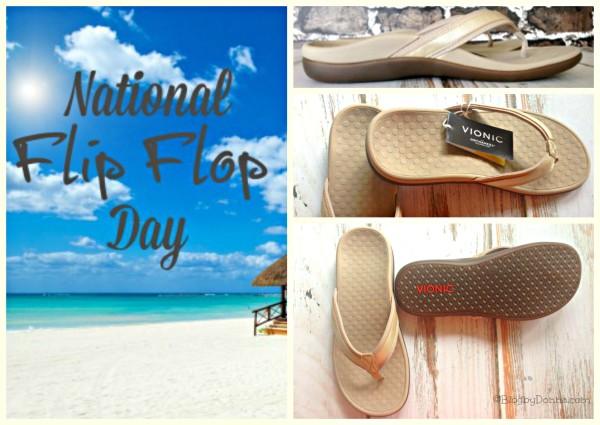 Vionic Flip Flops for National Flip Flop Day #vionicshoes
