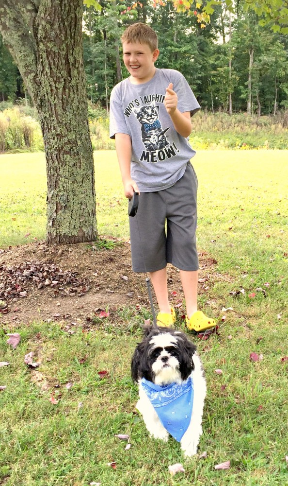 Cody and Baxter Outside