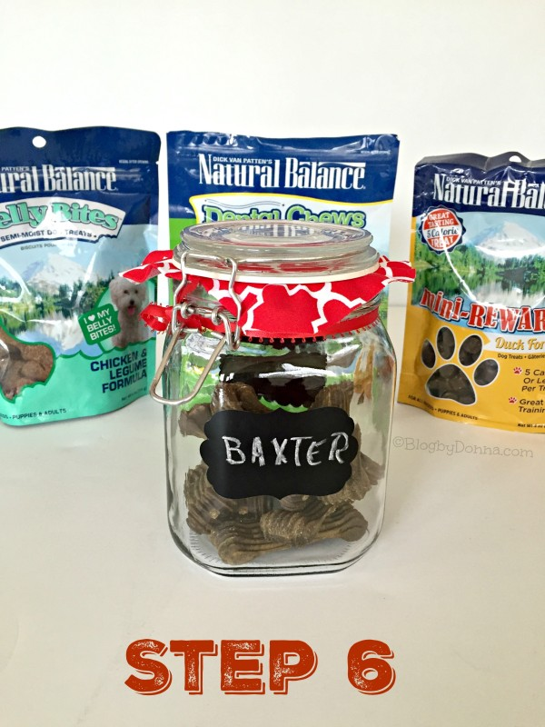 DIY dog treat jar Step 6