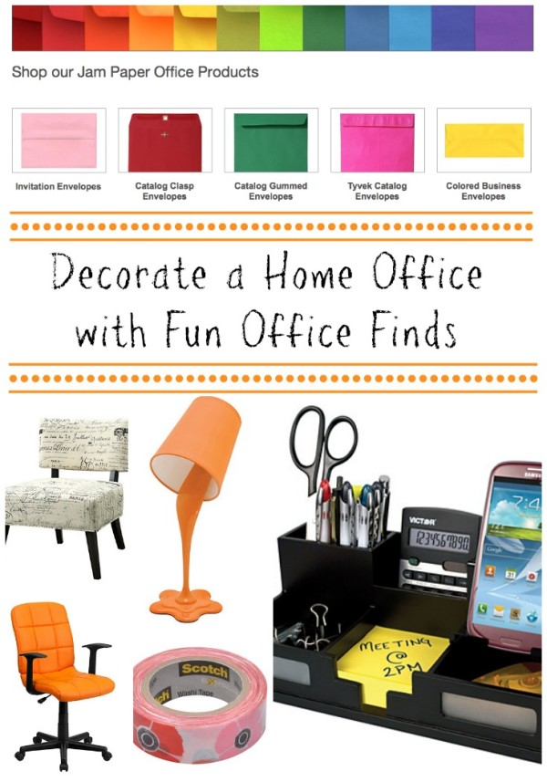 Decorate a home office with fun office finds from quill.com