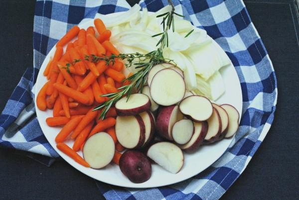 Vegetables for Rosemary Sea Salt chicken Cast Iron