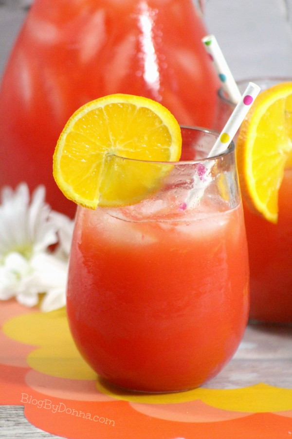Non-alcohol Orange Sizzle drink recipe for a summer cookout...