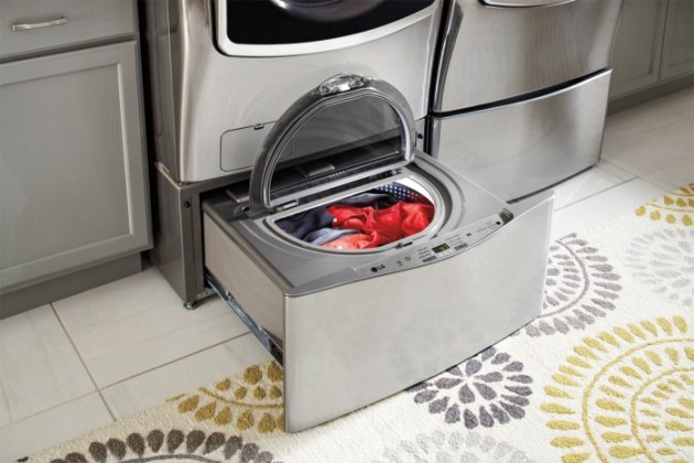 Benefits to a front loading washer like the LG front load laundry system from Best Buy