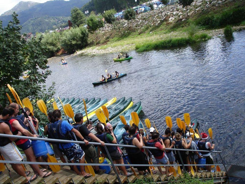 DESCENSO DEL SELLA || Bajada del sella con niños y familia en canoa