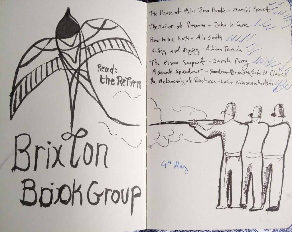 Brixton book group voting sketch