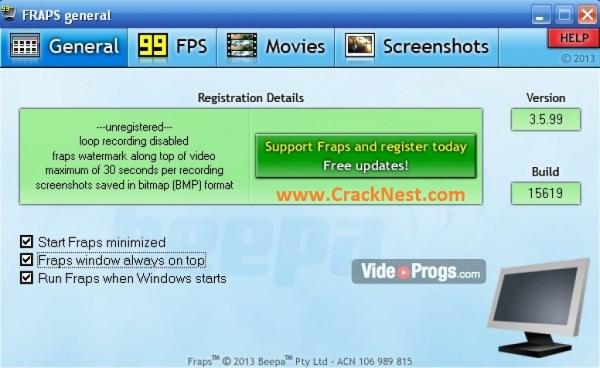 Fraps Crack Free download Full Version