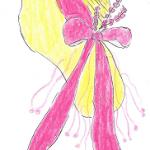 yellow pink hat
