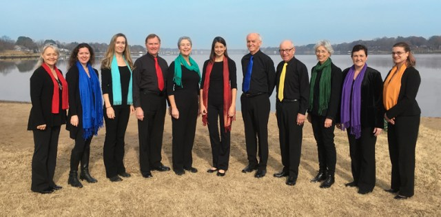 Photo: River Voices (left to right: Bonnie Keating, Caitlin Patton, Steffi Ricketts, Jim Moseman, MG Brosius, Michelle Sensenig, Doug Hamilton, Bill Barron, Mary McCoy, Helen Clark, Andrea Neiman; not pictured: Tom Schreppler)