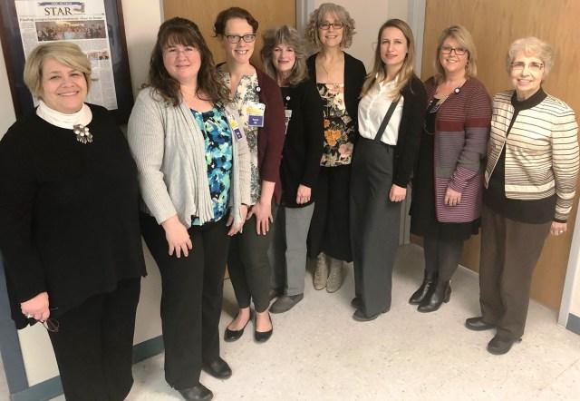 Photo: Shown are Penny Keaney, Wendy Greenwood, Karen Davies, Debora Evans, Laura Taylor, Dr. Yaprak Ordin, Trish Rosenberry and Sandra Cupples. (C4D&E 1-22-18).