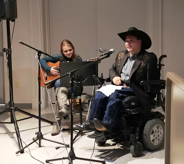 Photo: Coffeehouse performers Victoria Tarbutton and Garrett Roe