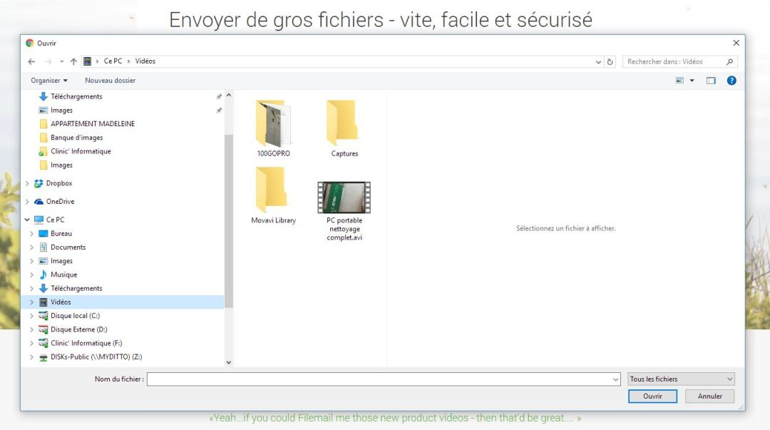 Fichier FileMail