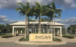 The Enclave Fort lauderdale at Coral Ridge Country Club Entry gate