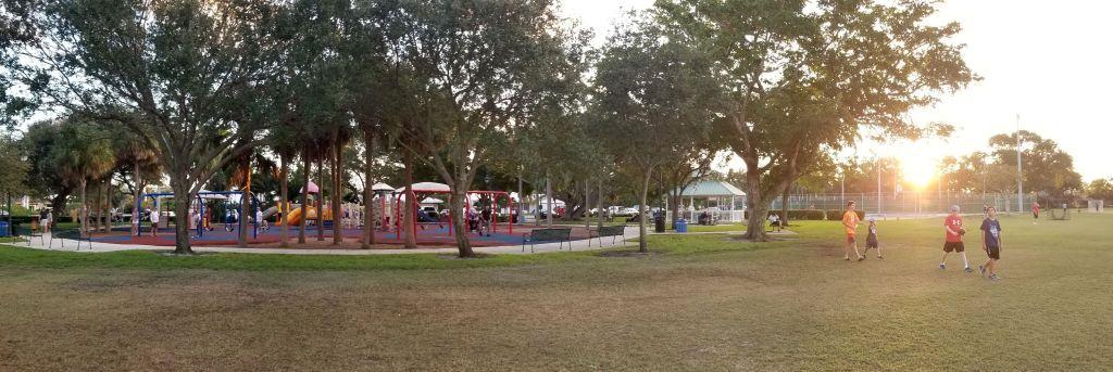 Bayview Park at Sunset