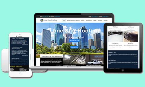 Lone Star Roofing's Austin Web Design