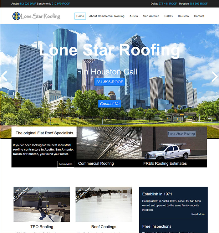 Example of a their New Austin Web Design