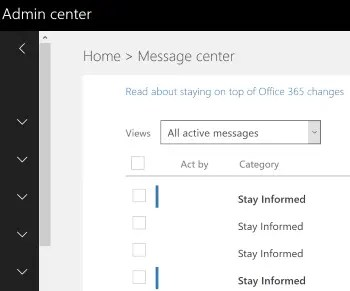 Office 365 Msg Center: The week that was