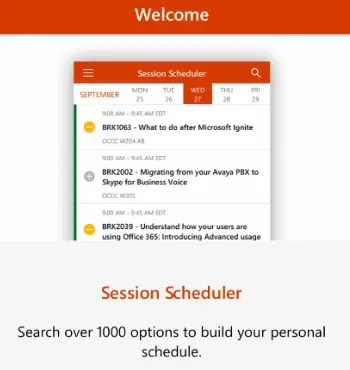 MSIgnite App Welcome