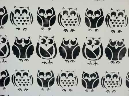 owl wall stencil - woven home
