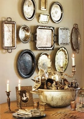 how-to-decorate-your-home-with-metal-plates - shelterness