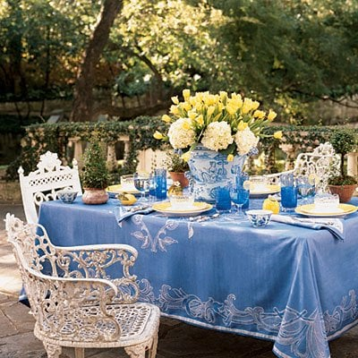 blue-yellow-table- from the enchanted home