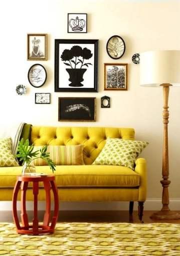 yellow sofa via pinterest