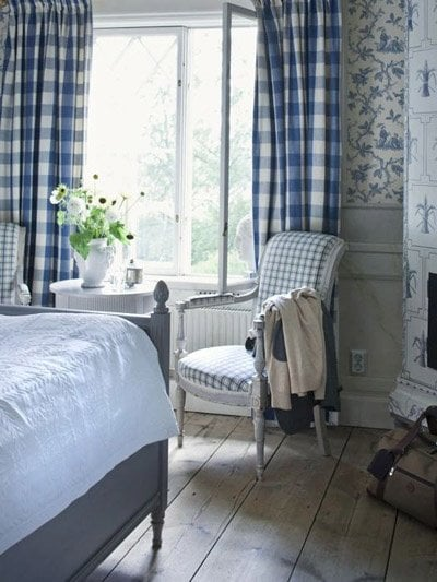 pinterest - Gingham curtains