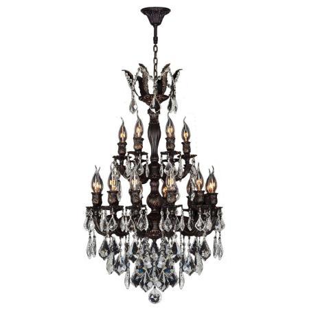 Worldwide Lighting Versailles Collection 18_inch Flemish Brass & Glass Chandelier