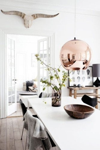 glam decor using layers of different materials