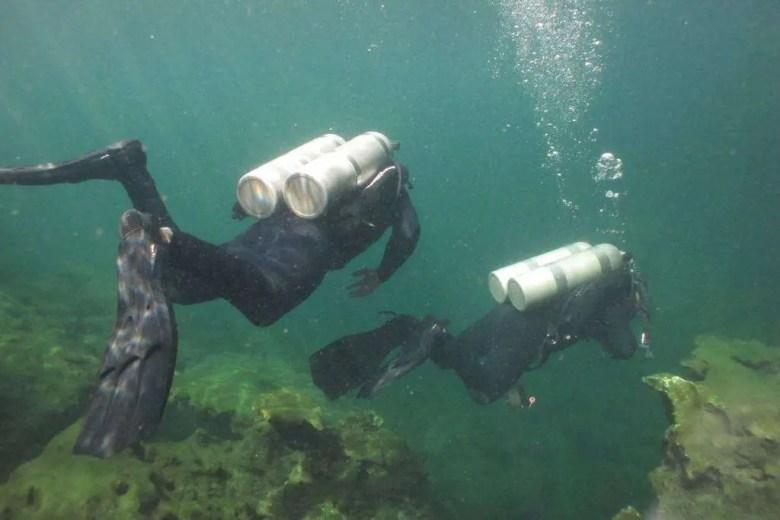 Cours de plongée souterraine