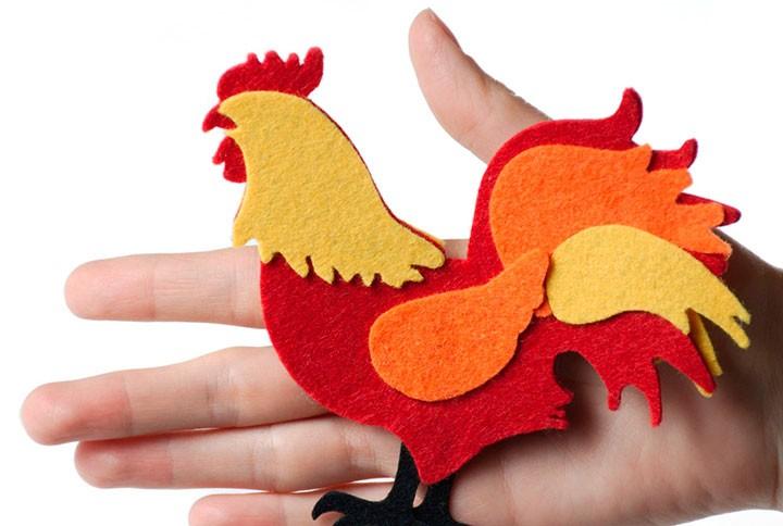 Δημιουργήστε έναν κόκορα για το νέο έτος: 10 τρόποι για να φτιάξετε έναν κόκορα με τα χέρια σας + φωτογραφία