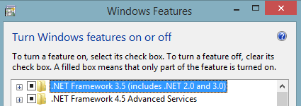 Installing .NET FrameWork 3.5