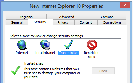 Internet Explorer Trusted Sites with Group Policy