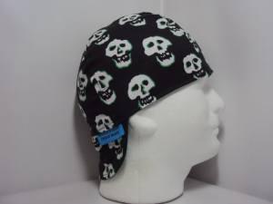 Green Skulls Welders Cap