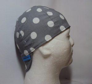 Polka Dots White On Grey Welding Hat