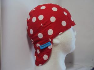 Polka Dots White On Red Welding Hat