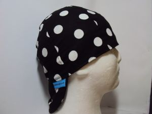 Polka Dots White On Black Welding Hat