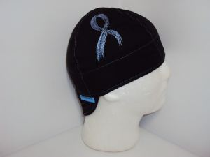 Embroidered Cancer Ribbon Welding Cap