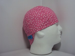 White Dots On Pink Welding Cap