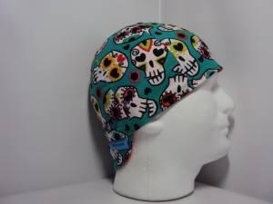 Flowers and Skulls Welding Hat