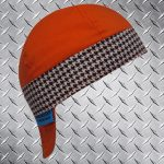 Hounds Tooth Brown Band Welding Hat