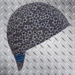 Grey Flowers Welding Cap