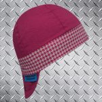 Hounds Tooth Pink Band Welding Hat