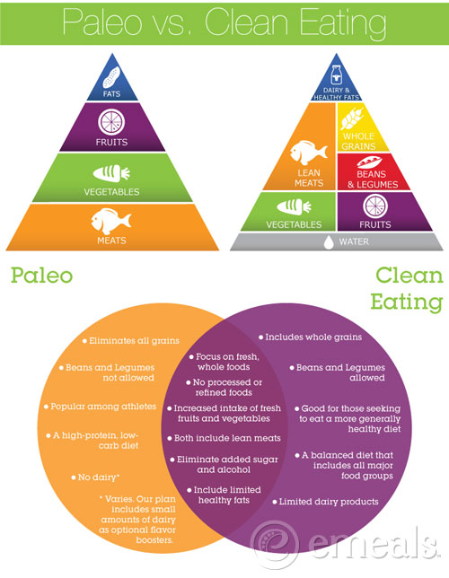 Paleo-vs-Clean-Eating dreallday.com