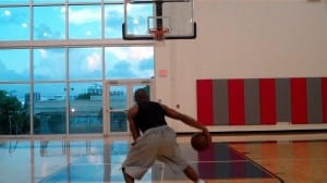 Setup Crossover, Behind-Spin Combo Move Finish dre baldwin