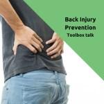 toolbox talk back injury prevention