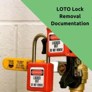 loto lock removal form